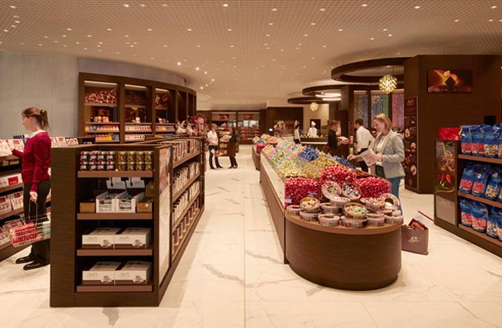 Der über 500m2 grosse Lindt Chocolate Shop